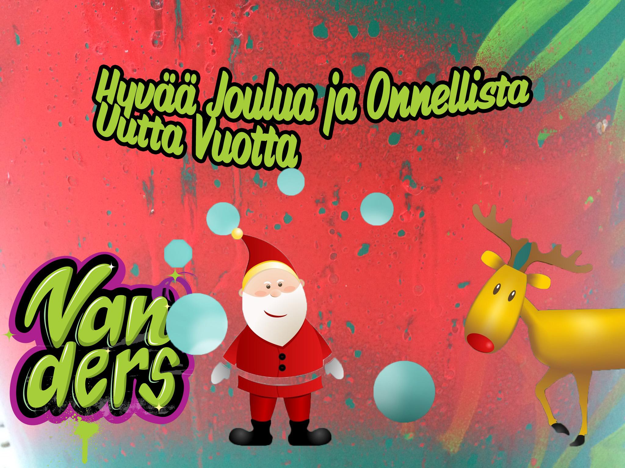 Vanders lomailee jouluna 22.12.2015 – 4.1.2015