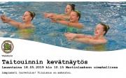 Taitouinnin kevätnäytös 18.5. klo 10.15 Martinlaakson uimahallissa