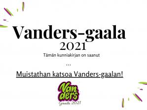 Vanders-gaala 3.5.2021